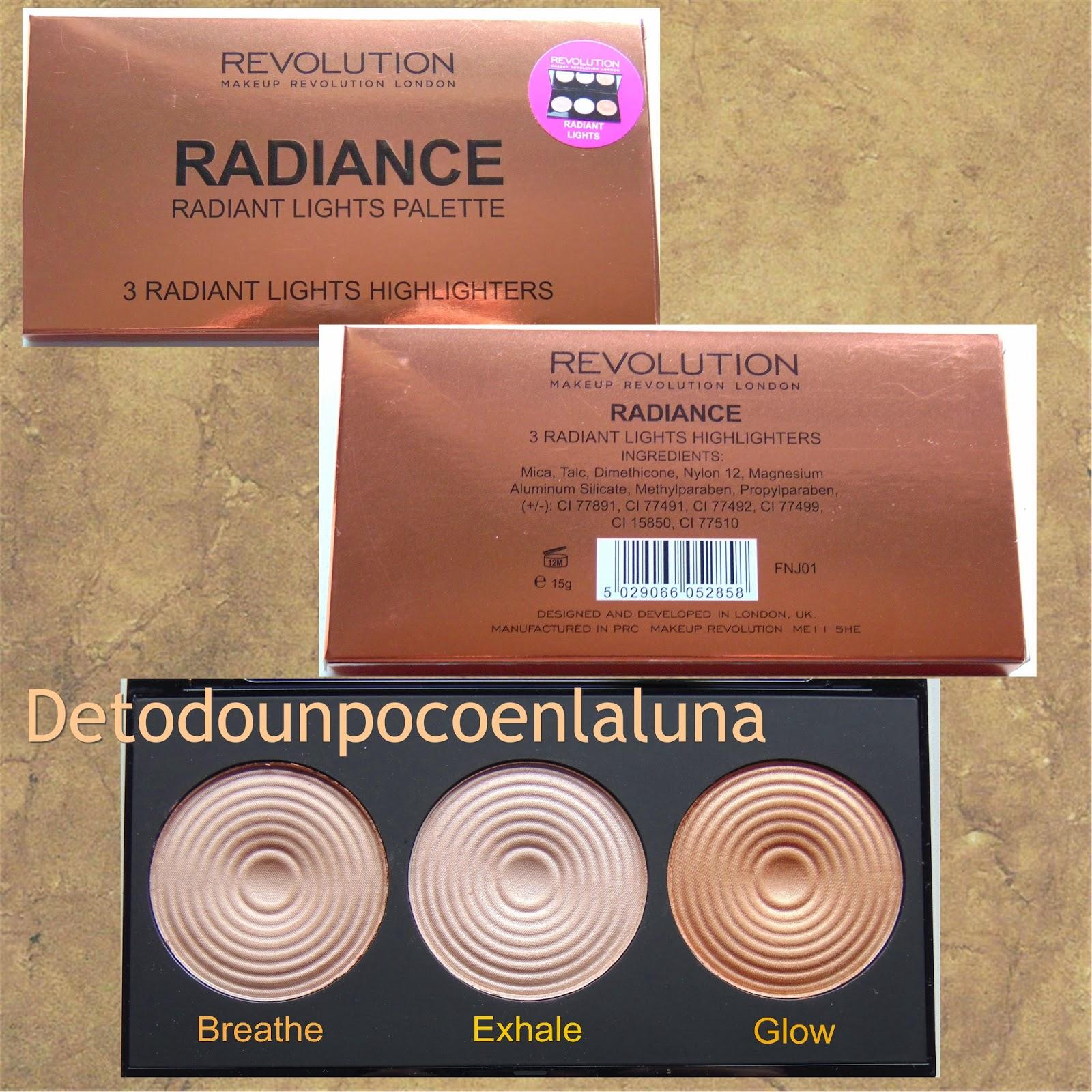 paleta radiance makeup revolution