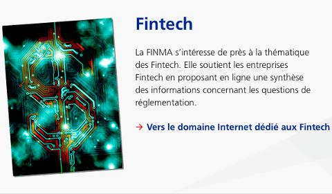 Espace FinTech de la FINMA