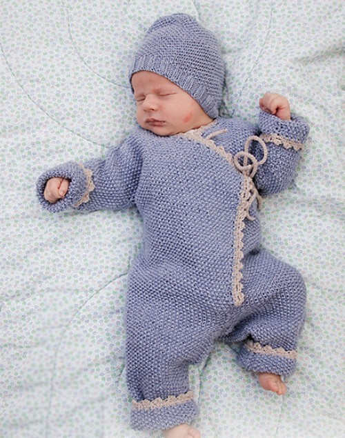 Knitted Overall & Hat for Baby - Free Pattern