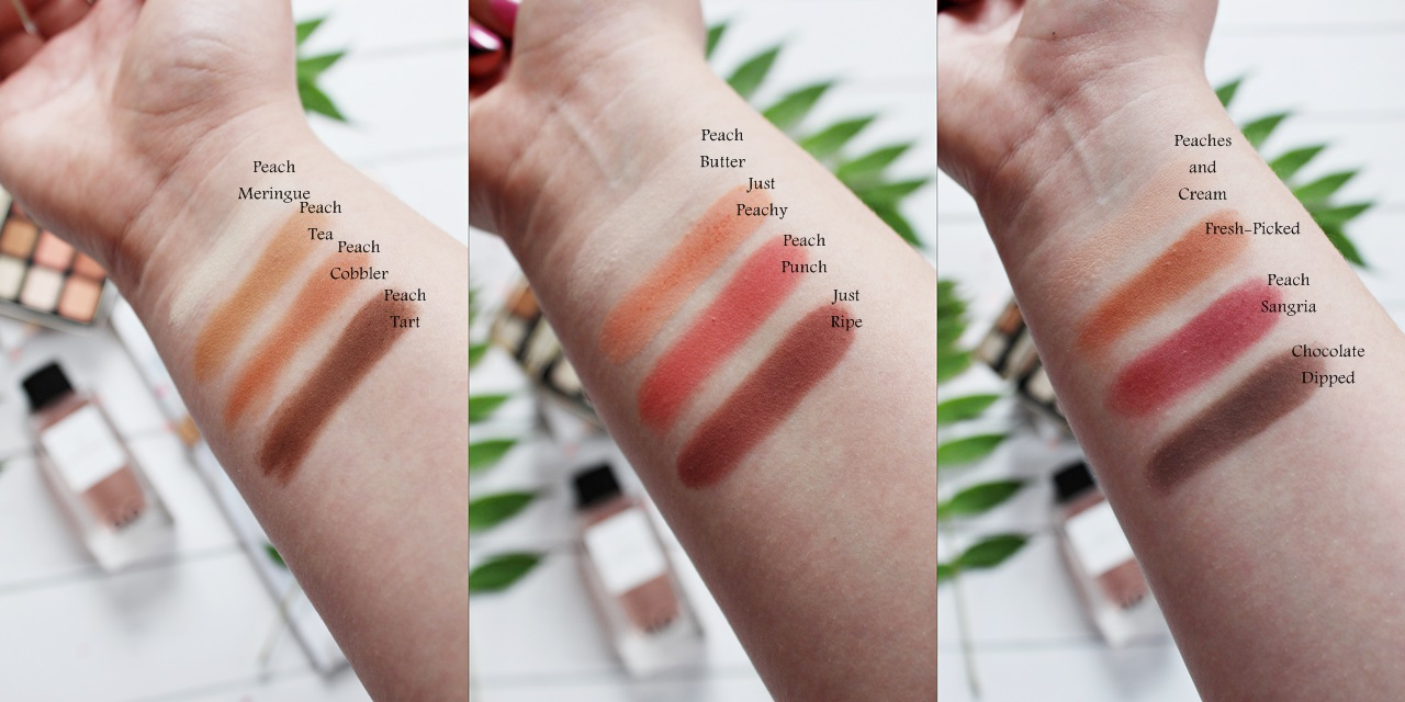 Too_Faced_Just_Peachy_Mattes_paleta_cieni_recenzja_swatche