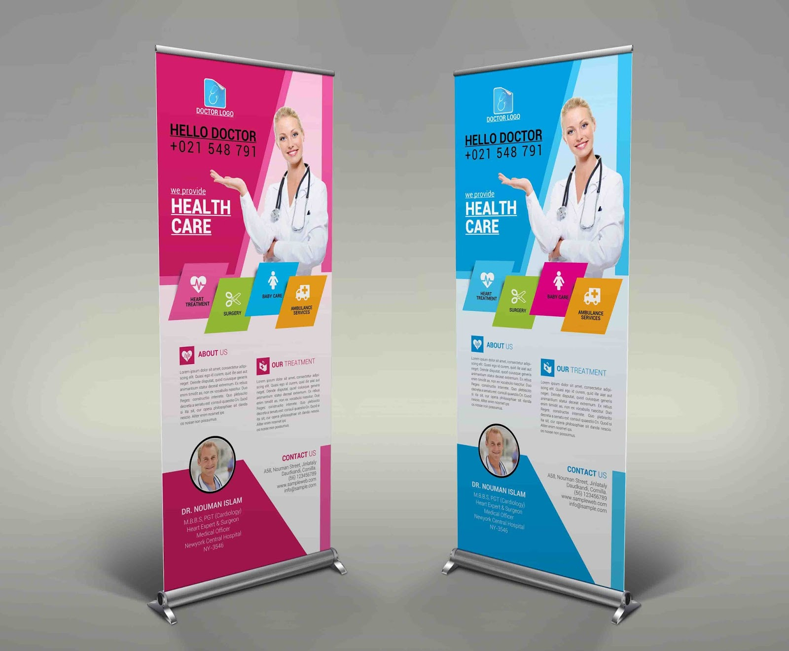 health care medical rollup banner