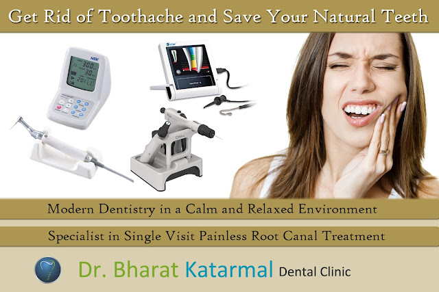 sinlge visit RCT at dr. bharat katarmal dental clinic