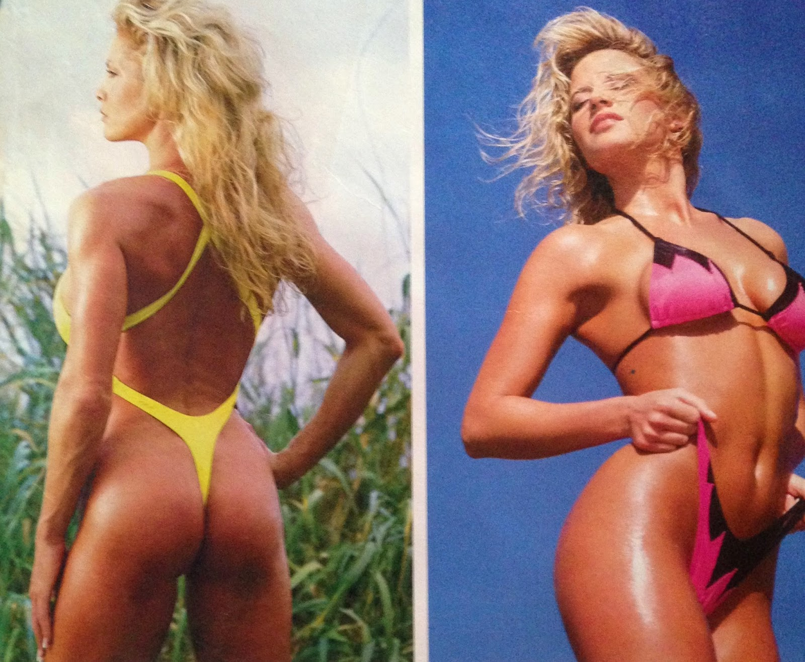 WWE: WWF RAW MAGAZINE - January 1998 - Sunny and Sable in their swimsuits