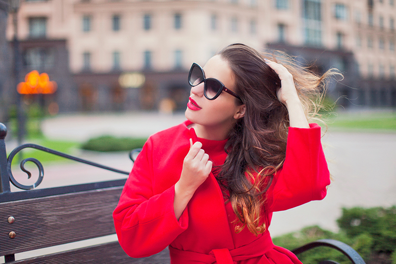 otal red outfit