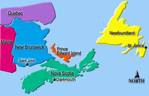 Map Of Atlantic Canada Provinces Golf for Beginners: Golf in the Coastal Provinces of Atlantic Canada
