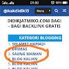Program Backlink Gratis dari Blog Didik Jatmiko
