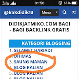 Program Backlink Gratis dari Blog Didik Jatmiko