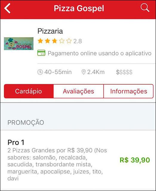 Pizza Abençoada