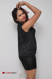 Model Sonia Pictures in Black Dress at Yes Mart Event  0026
