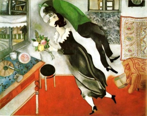 O Aniversário, obra do pintor russo Marc Chagall.
