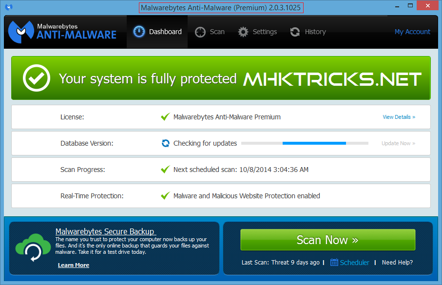 MalwareBytes Anti-Malware Premium 2 0 3 with Activation