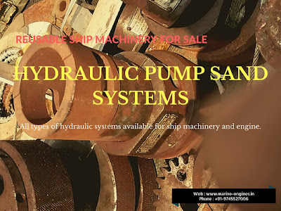 hydraulic pumps, hydraulic system, ship machinery, second hand, reusable, used, recondition, pump