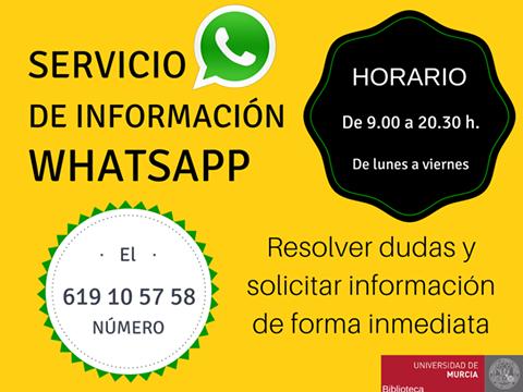 ¿Conoces nuestro servicio de WhatsApp?
