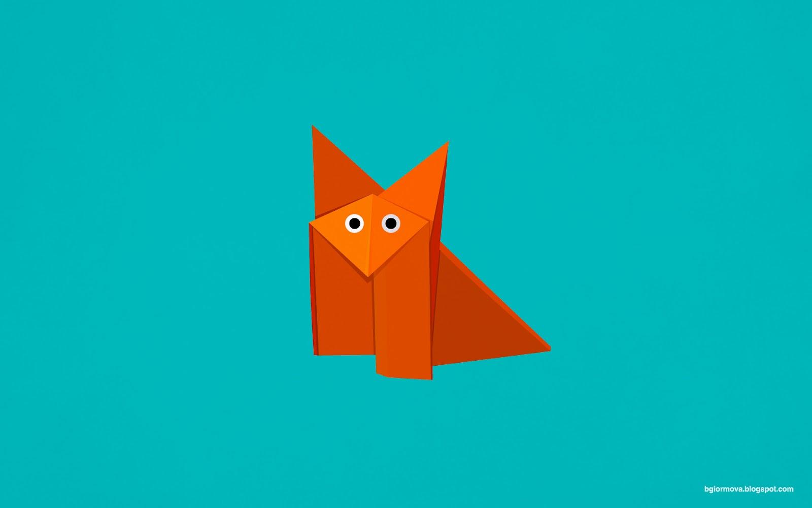 My Grinning Mind: Cute Origami Fox - photo#32