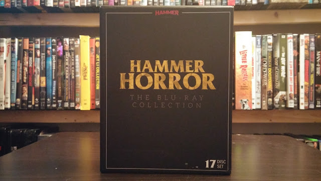 Awesome Front Cover to Hammer Horror The Blu-ray Collection
