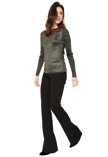 Moda Fiya Lady Suéter Tricot Fiya Lady Metalizado