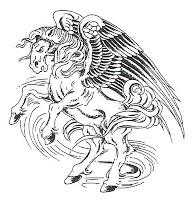 kanatlı at dövmelerı