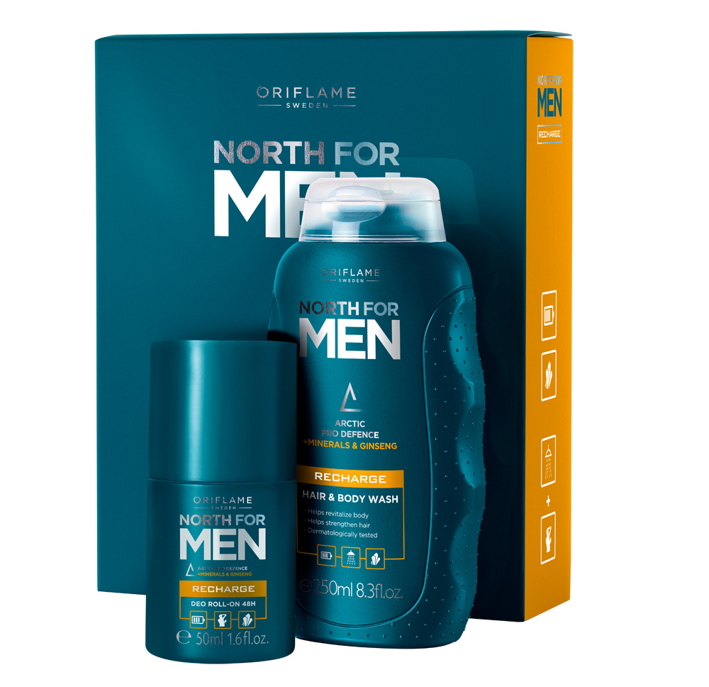 Coffret North for Men Recharge da Oriflame