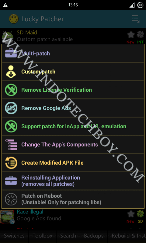 Custom Patches Download for Lucky Patcher Android App   Indotechboy