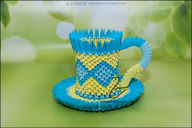 546. Filiżanka z origami / 3d origami cup
