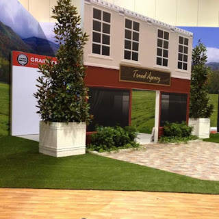 Greatmats artificial turf grass trade show flooring