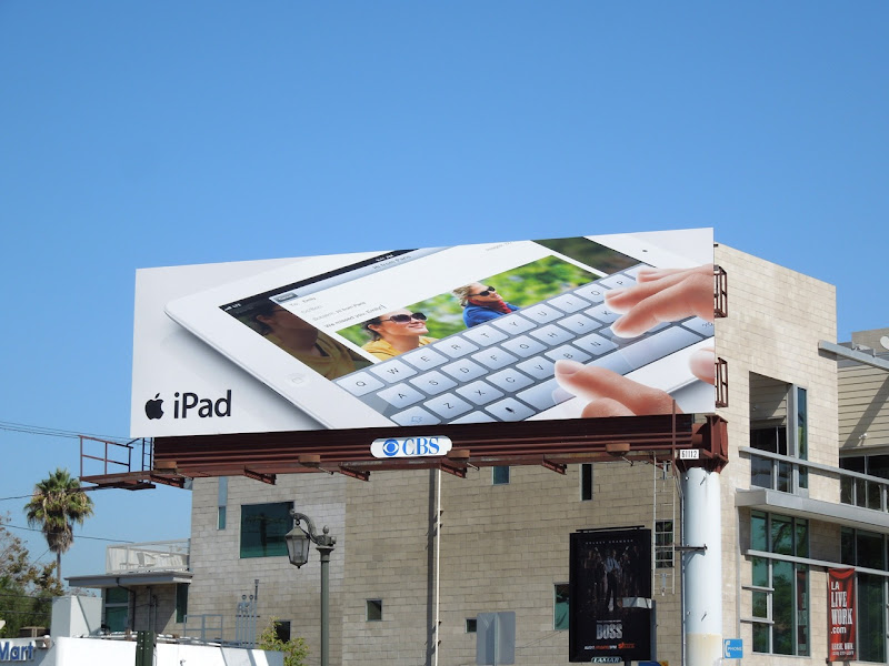 iPad 3 keyboard billboard