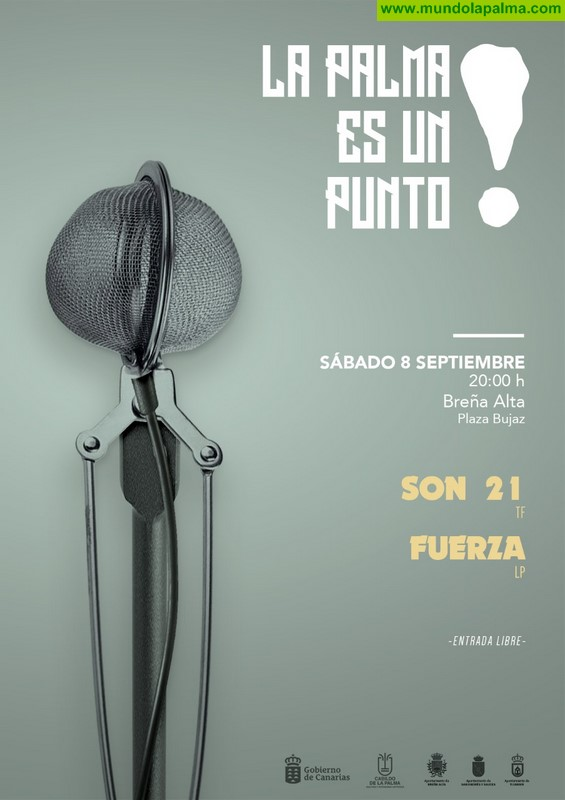 Breña Alta acogerá este sábado el último concierto del ciclo 'La Palma es un punto' amenizado por Son 21 y el proyecto 'Fuerza' de Eremiot