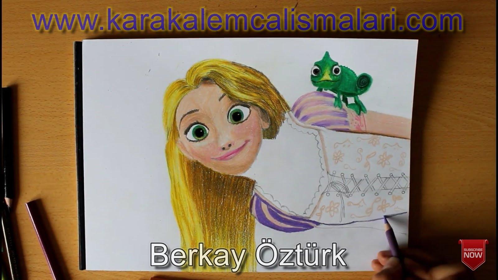 Rapunzel Nasıl çizilir Adım Adım Kolay Rapunzel çizimi Karakalem