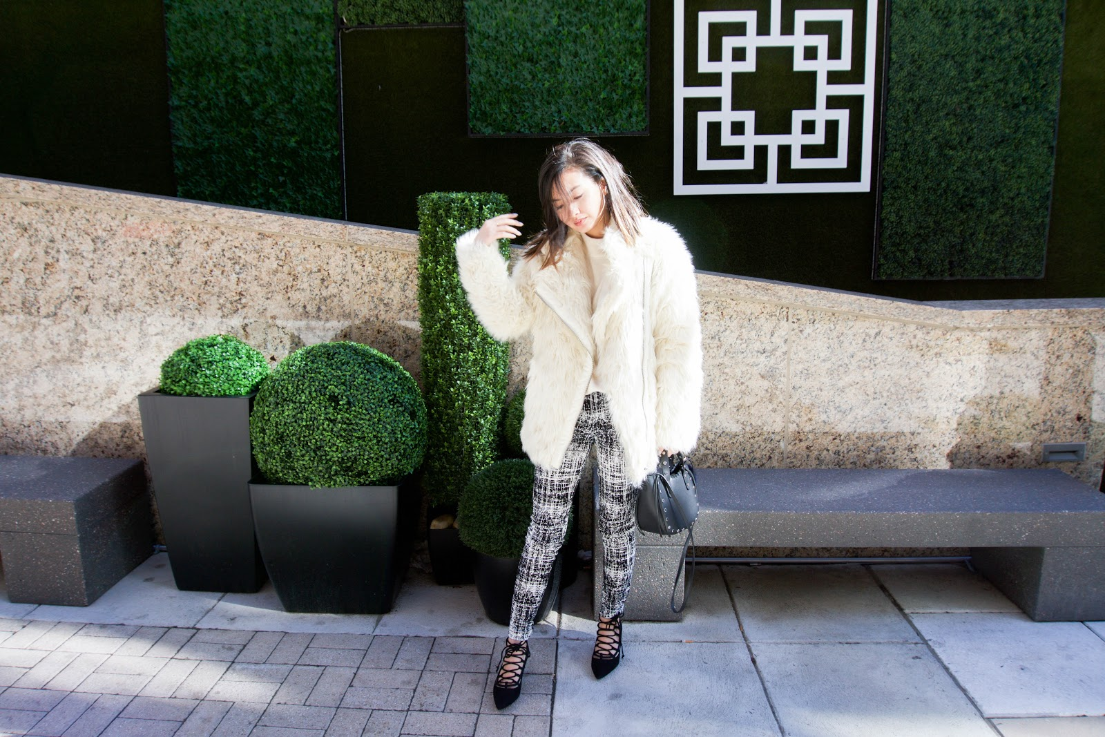 monochrome outfit of the day fashion zara h&m forever21