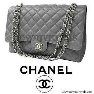 Queen Maxima Style Chanel-Grey caviar leather coco bag