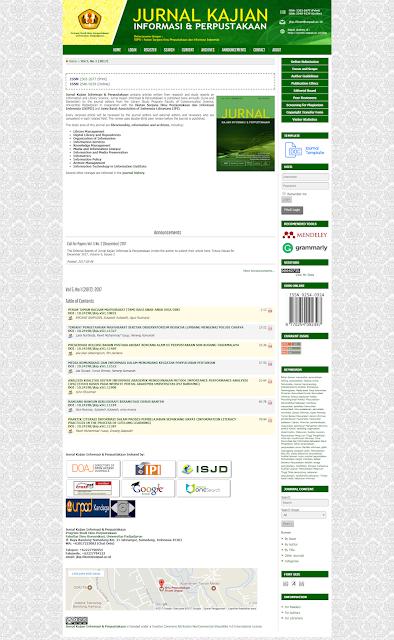 Jurnal Kajian Informasi & Perpustakaan Unpad