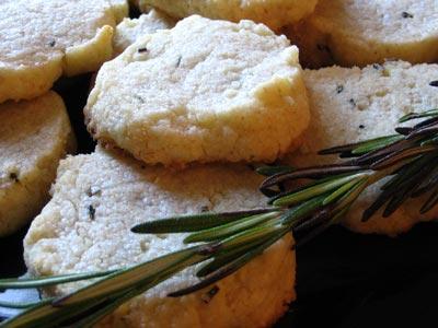 Rosemary Parmesan Shortbread