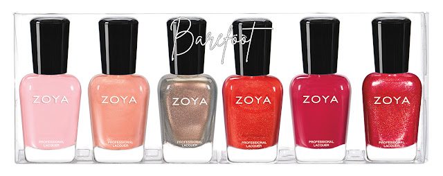 Zoya Barefoot Summer 2019 Collection Sampler A