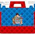 Paw Patrol Free Printable Suitcase Box.