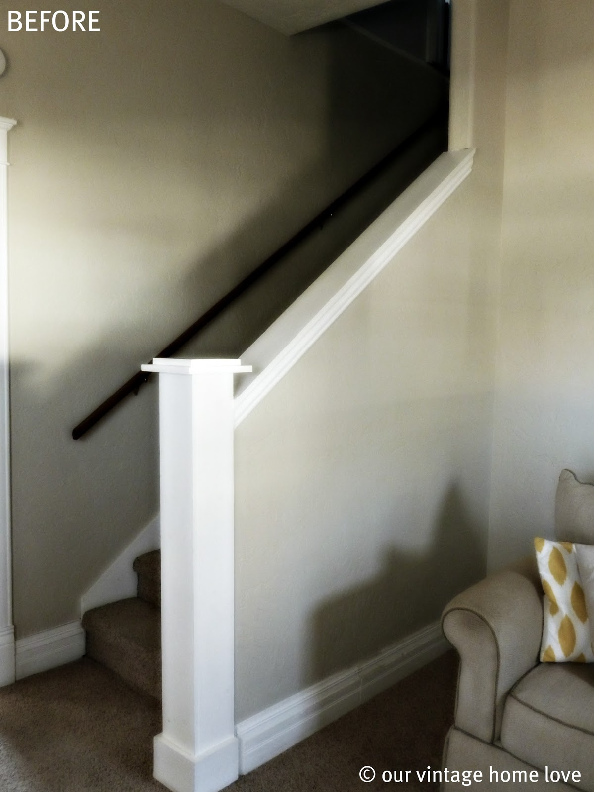 vintage home love: Stairway Redo and a Giveaway