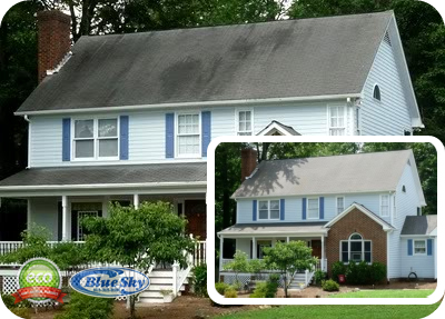 Power Washing in Northern Massachusetts - Roof Cleaning - Roof Washing with Blue Sky