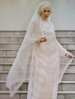 kebaya pengantin muslimah syar'i