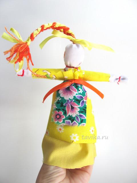 народная кукла мотанка - веснянка своими руками