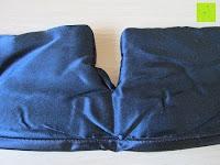 Nase: Schlafmaske DORMIDO von Fedano - Premiumqualität aus BIO-Baumwolle und Echter SEIDE - Schwarz - Hochwertige Schlafbrille & Augenmaske für Frau und Mann - Für die Reise und Zuhause Geeignet - HERGESTELLT in MÜNSTER, NRW
