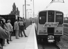 Photograph of the first train to leave the new Welham Green station on Monday 29 September 1986 Image from Ron Kingdon