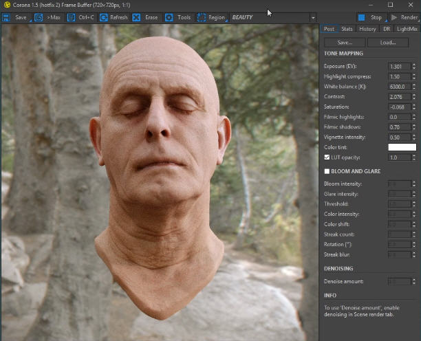 Creating realistic skin with Subsurface Scattering (SSS) in