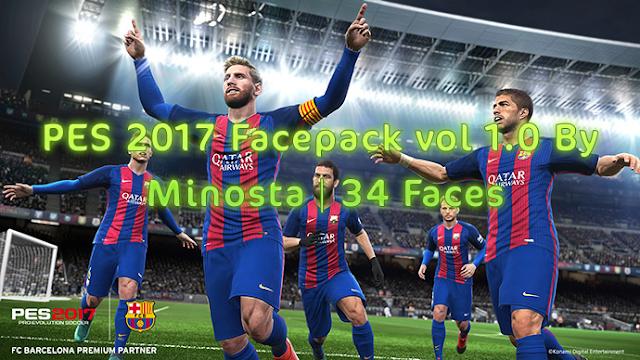 PES 2017 Minosta4u Facepack Vol 1.0
