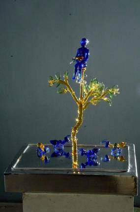 Glass sculpture by Sisir Sahana, Art Scene India