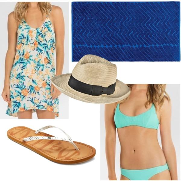 Women's Floral Cover Up Dress - Tori Praver Seafoam • $29.74 Mossimo Women's Straw Panama Hat with Black Bow Sash - Cream - MossimoTM • Mossimo • $14.99 Tori Praver Seafoam Women's Halter Bralette Bikini Top • $25.48 Marimekko for Target Beach Towel - Traktori Print - Blue • $17.48 Mad Love Women's Mad Love® Liannie Flip Flop Sandals • Mad Love • $14.99