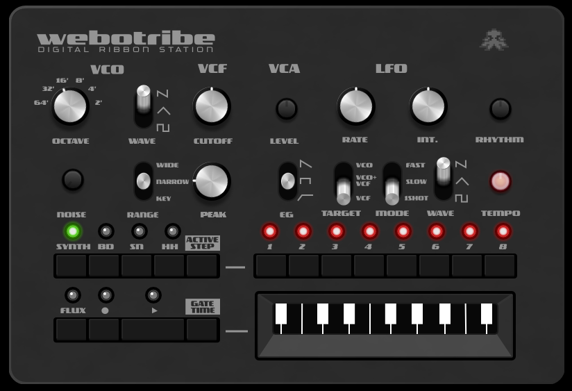 MATRIXSYNTH: Angry Octopus Webotribe - Online Synth Based on