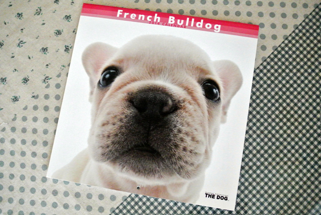 The Dog French Bulldog calendar