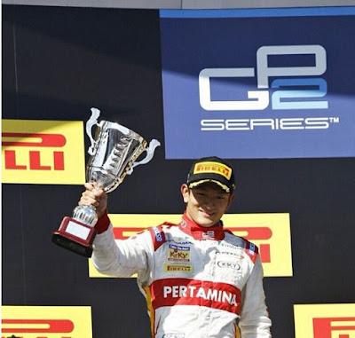 Rio Haryanto GP2 Sochi Runner Up
