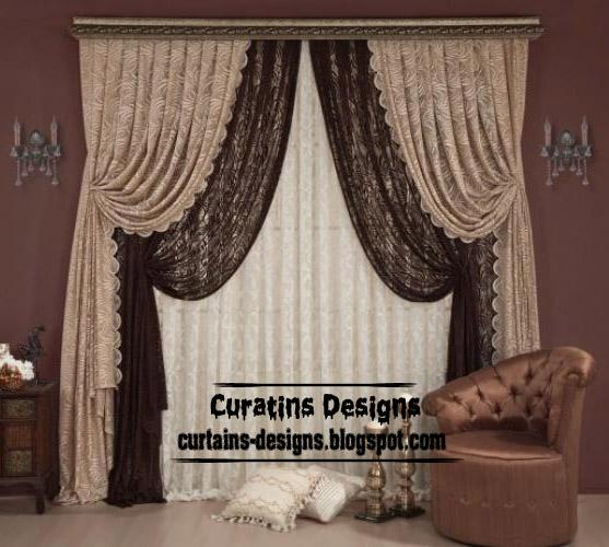 2013 Luxury Living Room Curtains Designs Ideas: Curtain Designs