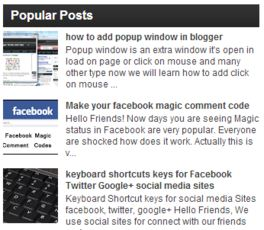 Widget Popular Posts SEO Friendly