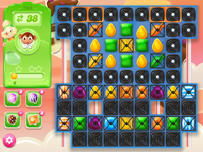 Candy Crush Jelly Saga level 708